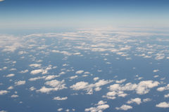 Cloud and sky view from a airplane Stock Photo