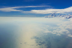 Cloud sky view from airplane Royalty Free Stock Photo