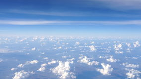Cloud and Sky view from Plane During Flight stock footage