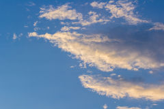 Cloud sky of warm light Royalty Free Stock Photos