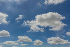 Cloud with sky. White cloud with blue sky in morning day after the rain in yesterday Stock Photography