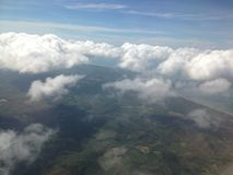 cloud skyen Arkivbilder