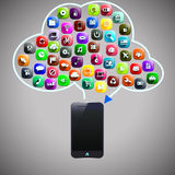 Cloud smart phone Royalty Free Stock Photos