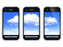 Cloud and smartphone Stock Images