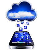 Cloud and smartphone Royalty Free Stock Photography