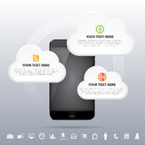 Cloud Smartphone Mobile Network Design Element Royalty Free Stock Photo