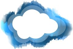 Cloud. Smile beauty online businessman isolated gray showing Stock Photo