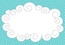 Cloud and snow border frame Royalty Free Stock Images