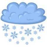 Cloud of snow Stock Images