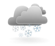 Cloud and snow flake symbol Royalty Free Stock Image