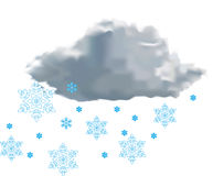Cloud with snow Royalty Free Stock Photos