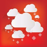 Cloud with snow web icon Stock Images