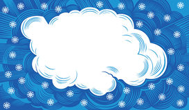Cloud with snowflakes Stock Photography