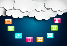 Cloud social media. Colorful illustration Royalty Free Stock Images