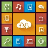 Cloud social media icons Stock Images