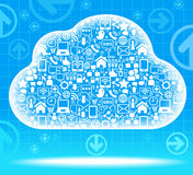 Cloud social network Stock Photo
