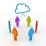 Cloud social network Royalty Free Stock Photos