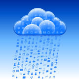Cloud Social Sign Rain Royalty Free Stock Image