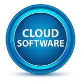 Cloud Software Eyeball Blue Round Button vector illustration