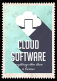Cloud Software on Light Blue in Flat Design. Stock Image