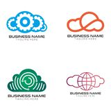 Cloud Solution logo design and icon vector illustration