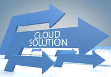 Cloud Solution Royalty Free Stock Images