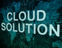 Cloud Solution Royalty Free Stock Image
