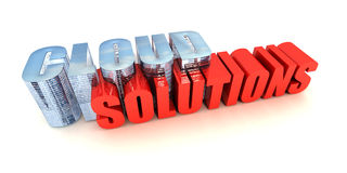 Cloud Solutions. Web Based Business Software Solutions Stock Photo