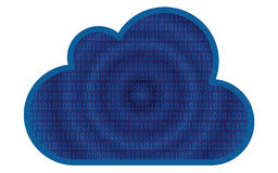 Cloud space icon,  Royalty Free Stock Photography