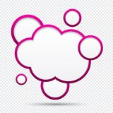 Cloud speech bubble. Stock Photography