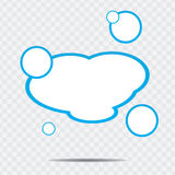 Cloud speech bubble Royalty Free Stock Images