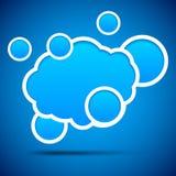 Cloud speech bubble. Royalty Free Stock Photo