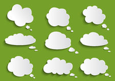 Cloud speech bubble collection Royalty Free Stock Images
