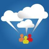 Cloud speech bubble discussion concept vector. Illustration Stock Photography