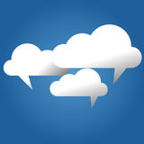 Cloud speech bubble vector. Illustration Royalty Free Stock Image