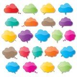 Cloud speech bubbles Stock Photos