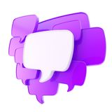 Cloud of speech text bubbles Stock Image