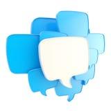 Cloud of speech text bubbles Stock Images