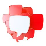 Cloud of speech text bubbles as copyspace plate Royalty Free Stock Image