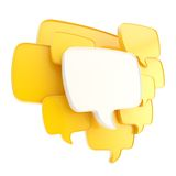 Cloud of speech text bubbles as copyspace plate isolated Stock Photography
