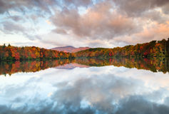 Cloud Splatter Over Price Lake in Autumn North Carolina Royalty Free Stock Images