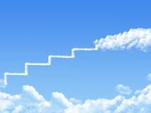 Cloud stair, the way to success Stock Photos