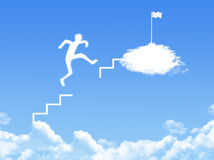 Cloud stair, the way to success. In blue sky Stock Image