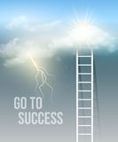 Cloud stair, the way to success in blue sky Stock Photography