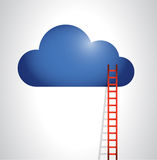 Cloud and stairs illustration design Royalty Free Stock Image