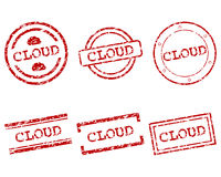 Cloud stamps Stock Photography