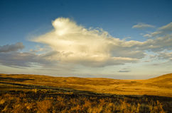 Cloud in the Steppe Royalty Free Stock Images