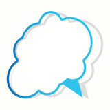 Cloud sticker in the cloud form. Royalty Free Stock Photography
