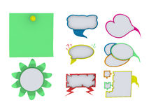 Cloud sticker dialogue thoughts pure white background Stock Photo