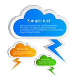 Cloud stickers set Stock Images